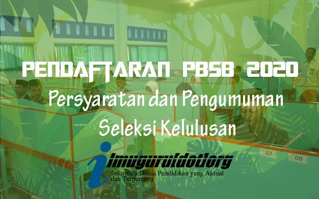 Pendaftaran PBSB 2020
