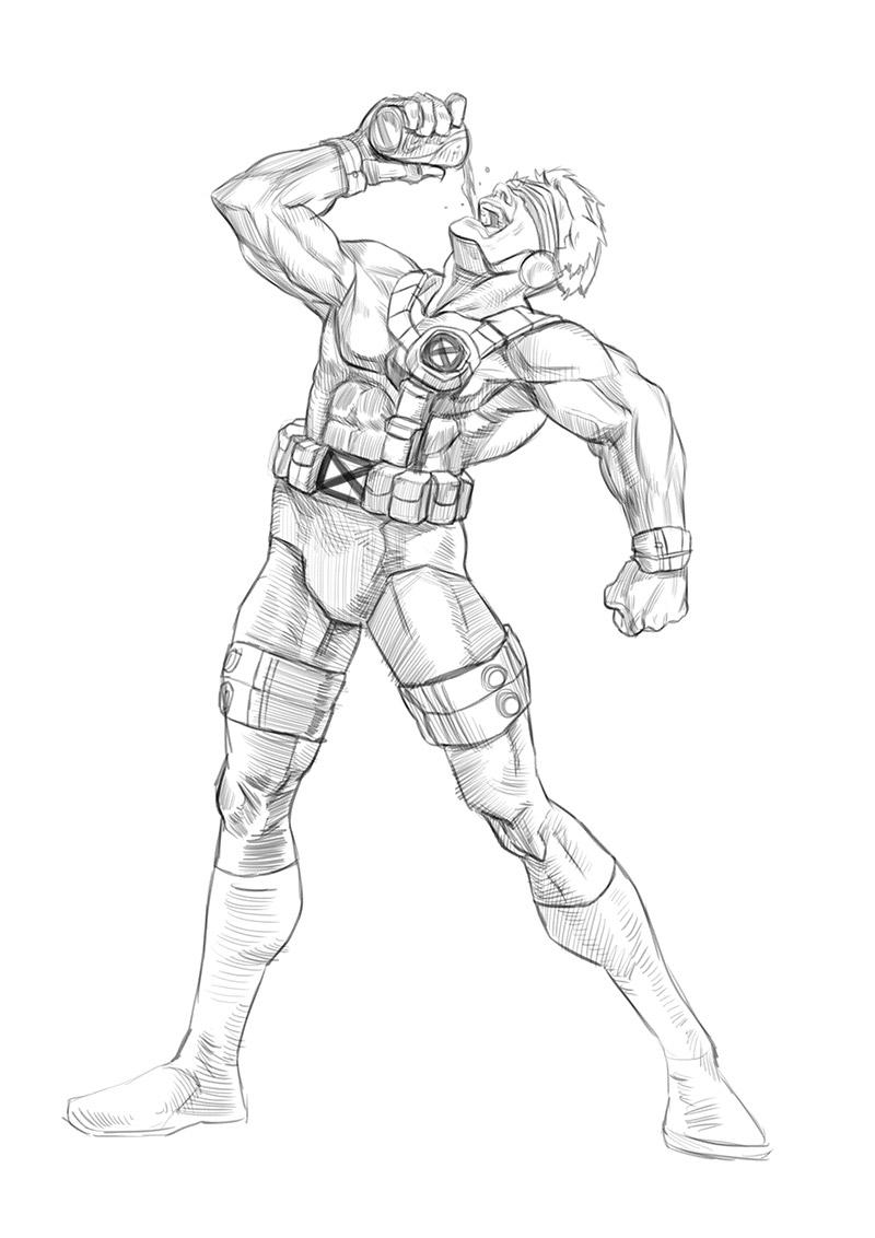 Let's Animate: X-MEN CYCLOPS sketch + Step by Step
