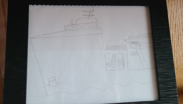 Nathan's ship drawing | DevotedQuilter.com