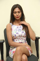 Nishi Ganda stunning cute in Flower Print short dress at Tick Tack Movie Press Meet March 2017 122.JPG