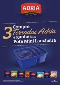 Promoção Torradas Adria 2020 Compre Ganhe Pote Mini Lancheira