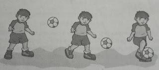 Menghentikan Bola dengan Punggung Kaki