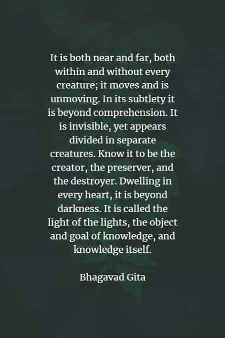 Famous quotes and sayings by Bhagavad Gita