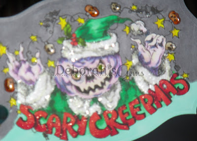 Scary Creepmas detail - photo by Deborah Frings - Deborah's Gems