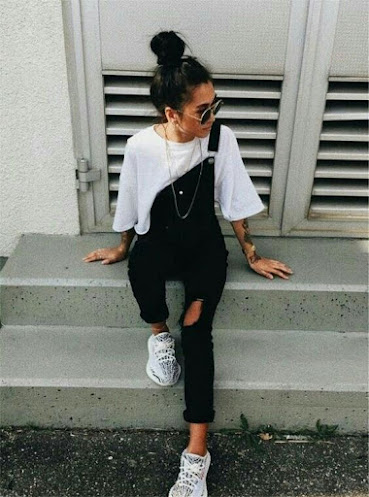 Outfits overol negro