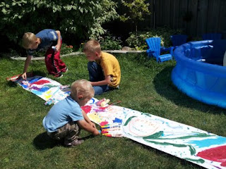 kids craft, painting, outdoor activities, summer