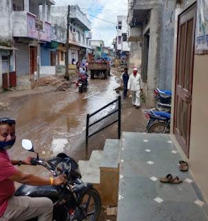 खबर का असर, चार गांव के लोगों सहित कालोनी रहवासियों को किचड़ व गंदे पानी से निकलने से मिलेगी मुक्ती