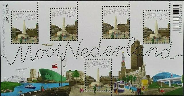 Netherlands Sheet Mooi Nederland  Amsterdam Tram De Dam
