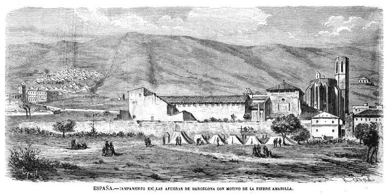 Acampamento dos fugitivos da epidemia. 15.11.1870. La Ilustración Española y Americana