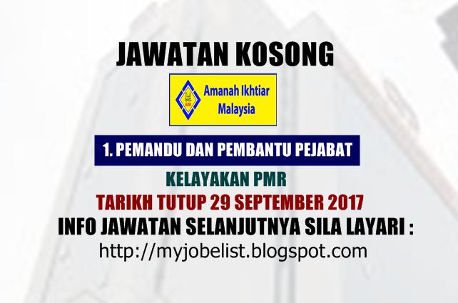 Jawatan Kosong di Amanah Ikhtiar Malaysia September 2017