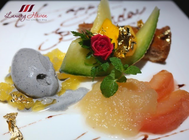 yamanami teppanyaki birthday aomori apples sesame ice cream
