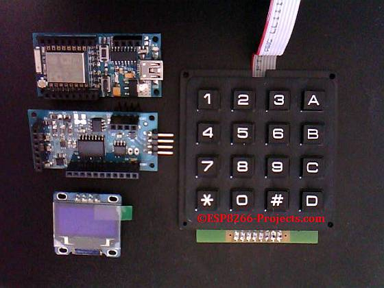 ESP8266 Projects: Mailbag - 4x4 Matrix Keyboard for ESP8266 nEXT EVO