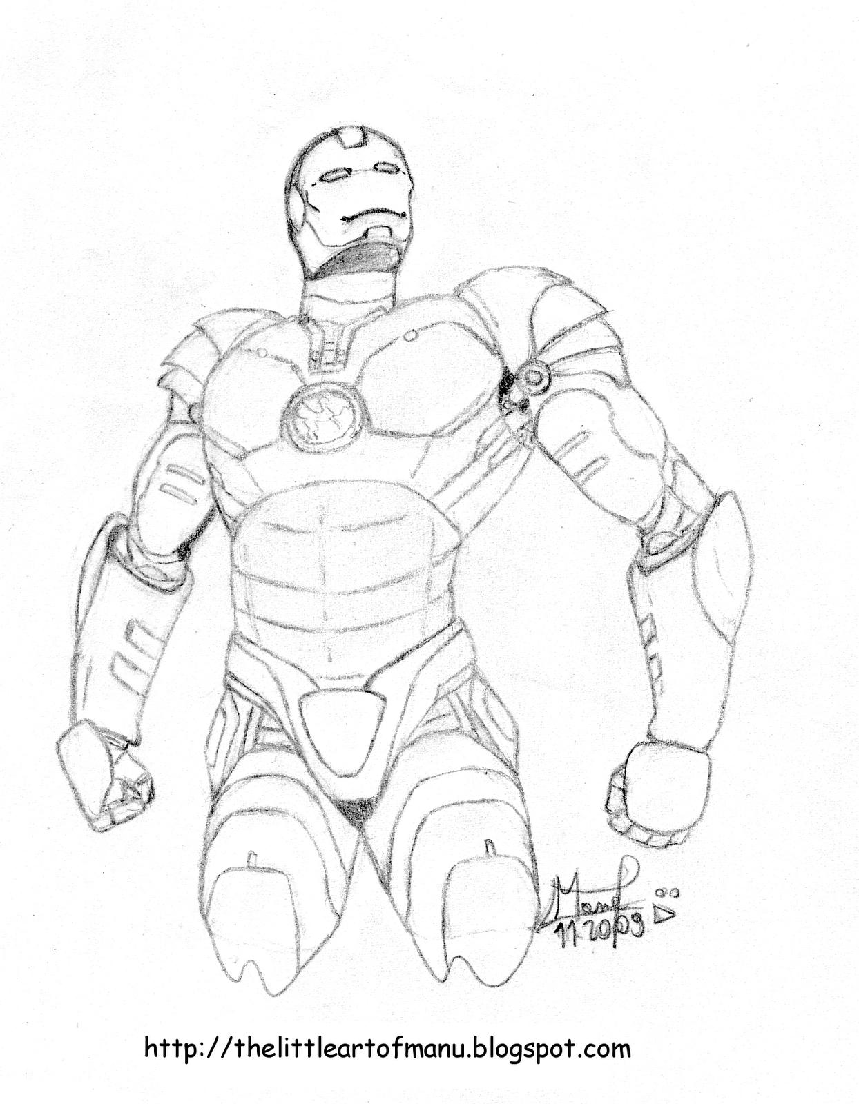 The little art of manu dessinateur illustrateur ateliers - Dessin iron man ...