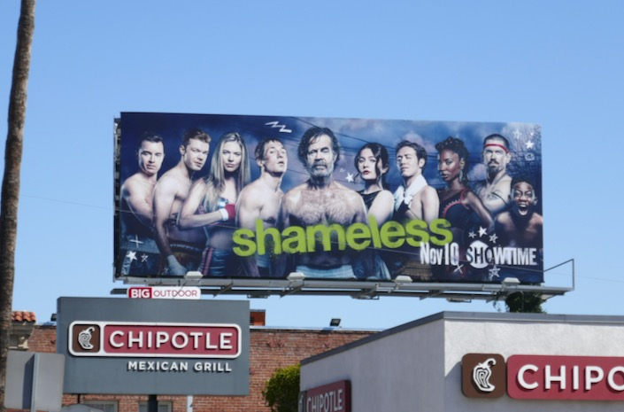 Shameless season 10 boxing billboard