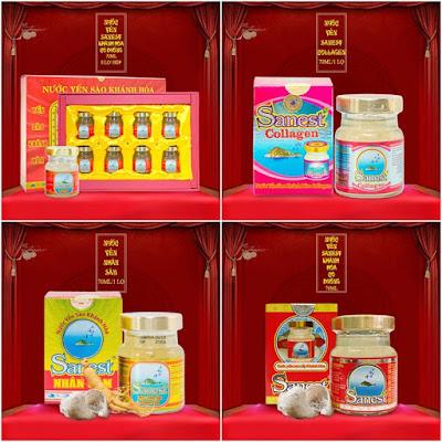 Một số sản phẩm nước yến bán chạy