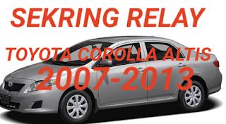 sekring dan relay TOYOTA COROLLA ALTIS 2007-2013