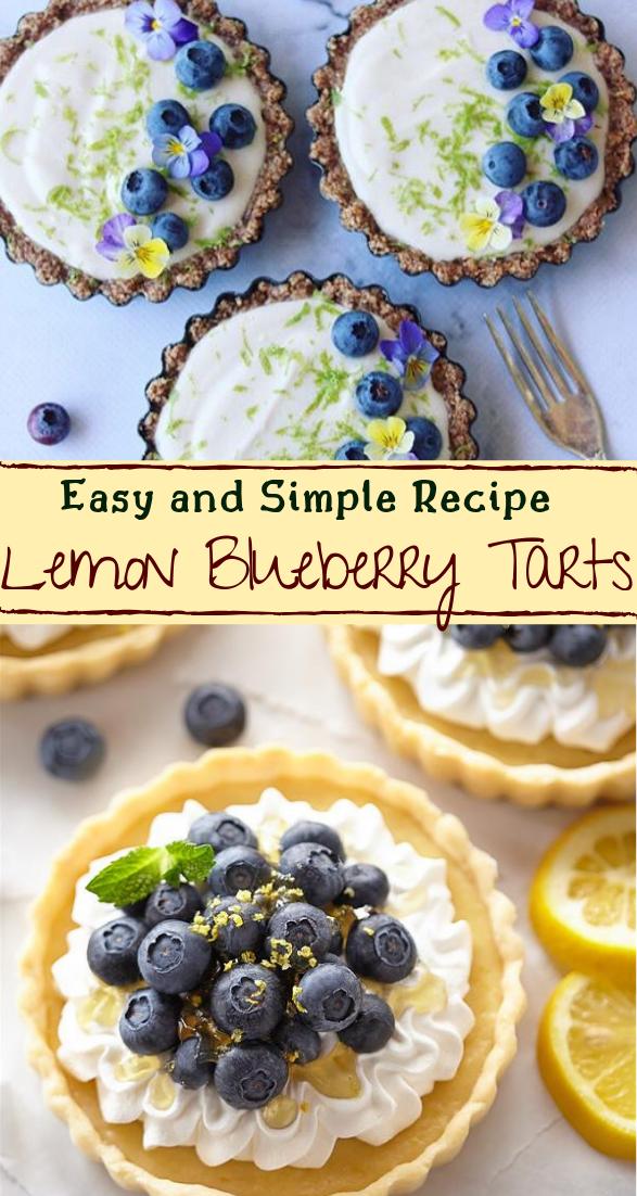 Lemon Blueberry Tarts #vegan #vegetarian #soup #breakfast #lunch