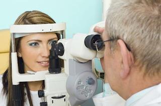 Examination of the eyes
