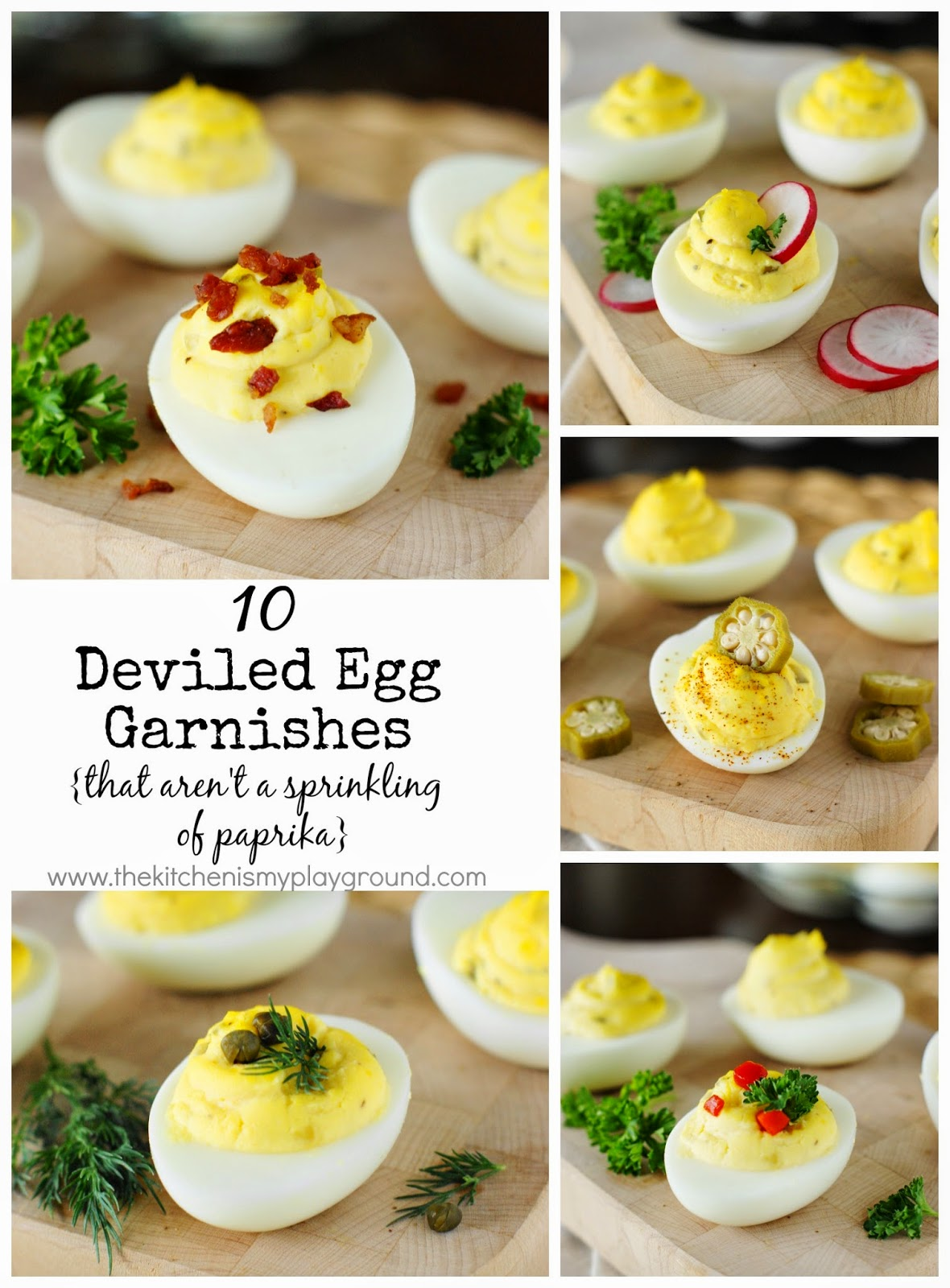 10 Deviled Egg Garnishes