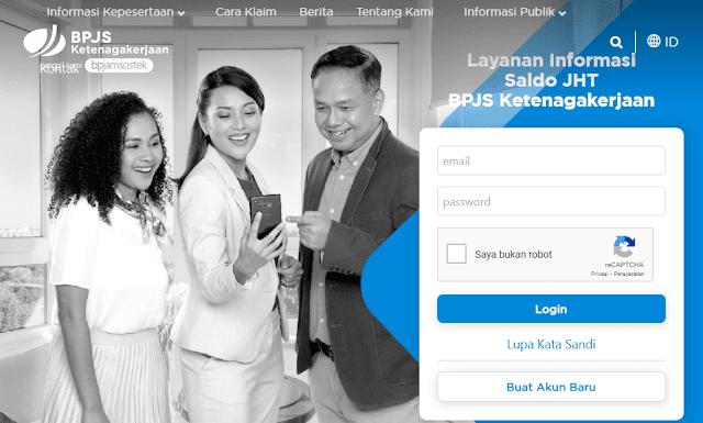 Cara kedua, bisa cek langsung melalui website. caranya anda masuk ke laman sso.bpjsketenagakerjaan.go.id. lalu pilih menu registrasi, kemudian isikan formulir sesuai dengan data anda.  Setelah berhasil masuk, anda bisa melihat informasi kepesertaan anda di menu kartu digital, anda juga bisa melihat nomor rekening bank yang sudah didaftarkan.