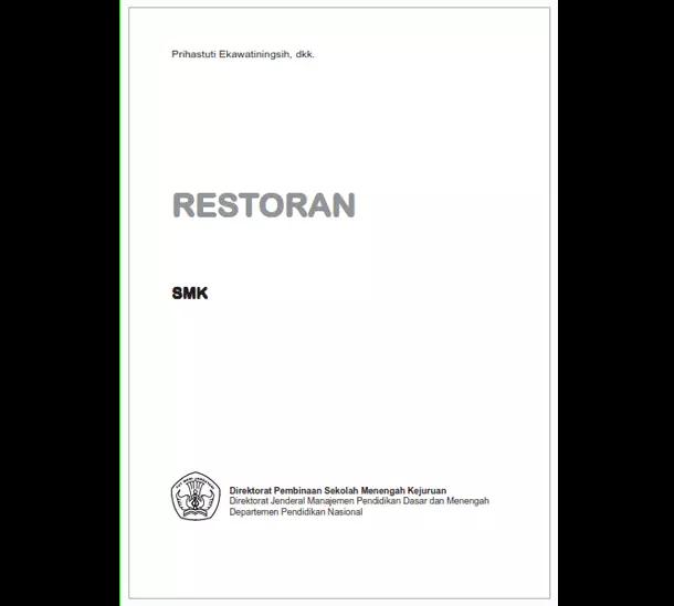 Buku SMK Seni dan Pariwisata Restoran