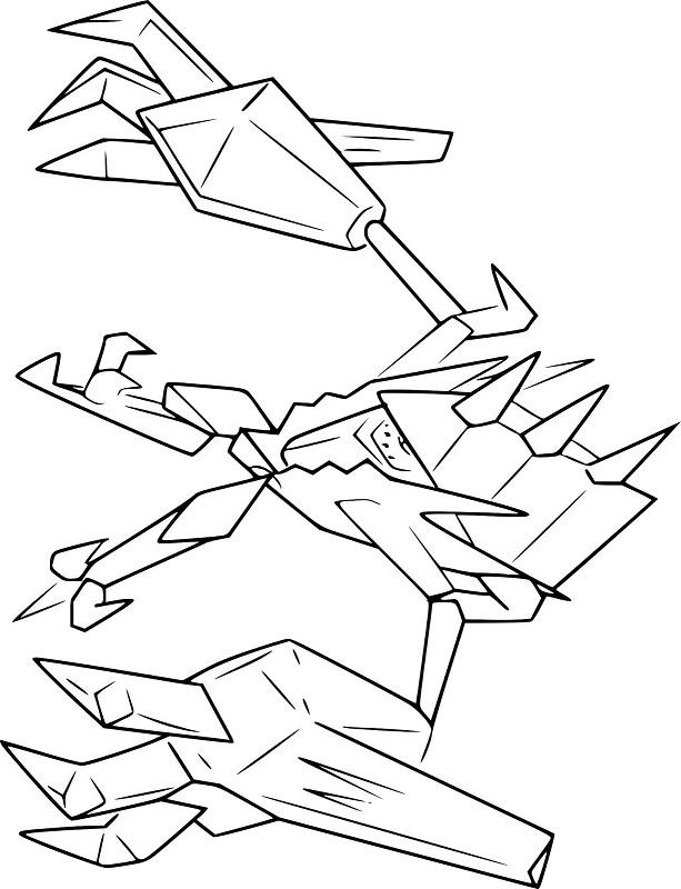 necrozma pokemon coloring page