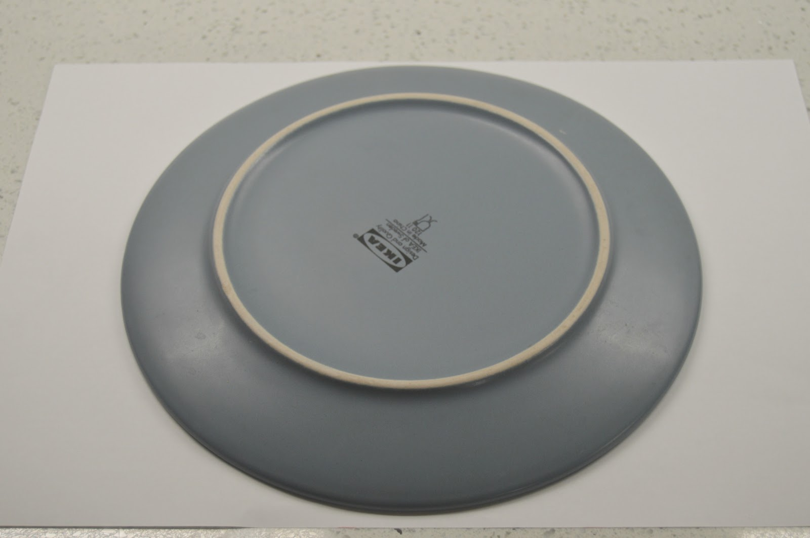 a plate upside down