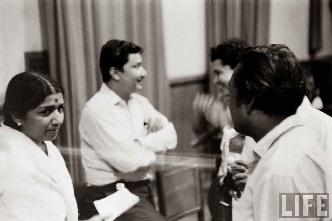 Lata Mangeshkar in Recording Studio - 1963