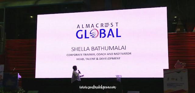 Speaker Shella BAthumalai; Sabah Job & Entrepreneur Fair 2018 @ Kompleks Sukan Kota Kinabalu (Likas)