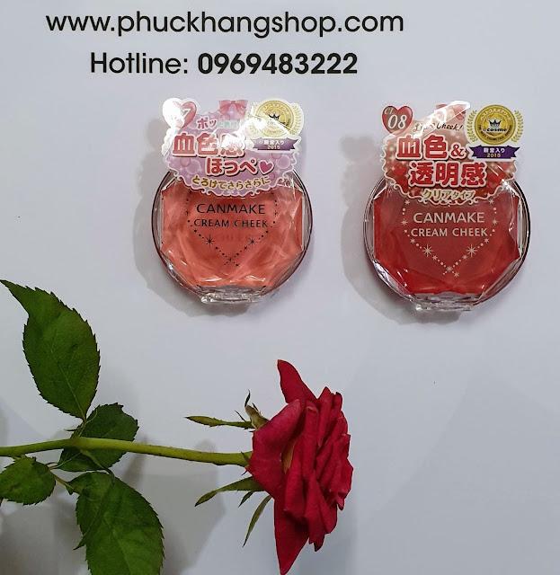 Phấn má hồng CANMAKE Cream Cheek, nội địa Nhật