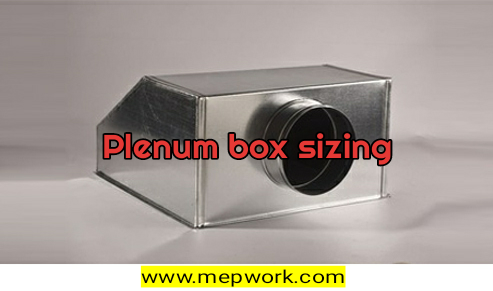 Plenum Box Sizing Calculation for AHU