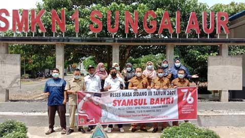 Syamsul Bahri saat reses di SMKN 1 Sungai Aur
