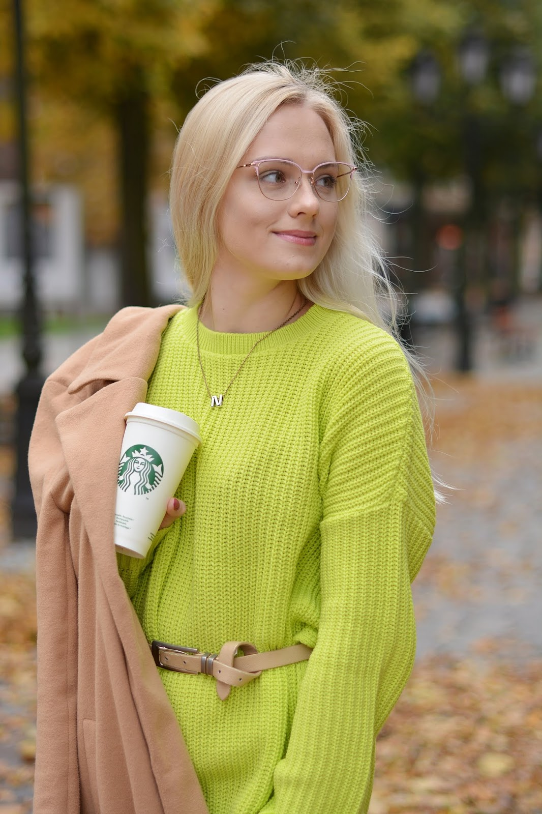 Lime Oversized Split Side Knitted Jumper