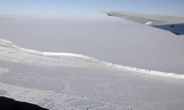 Γιγάντιο παγόβουνο είναι έτοιμο να αποκολληθεί - Έχει 2 φορές το μέγεθος της Νέας Υόρκης