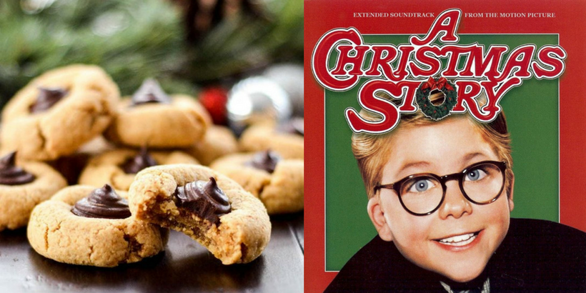 hands down a christmas story paired with almond butter blossom cookies by joy food sunshine - A Christmas Story Soundtrack