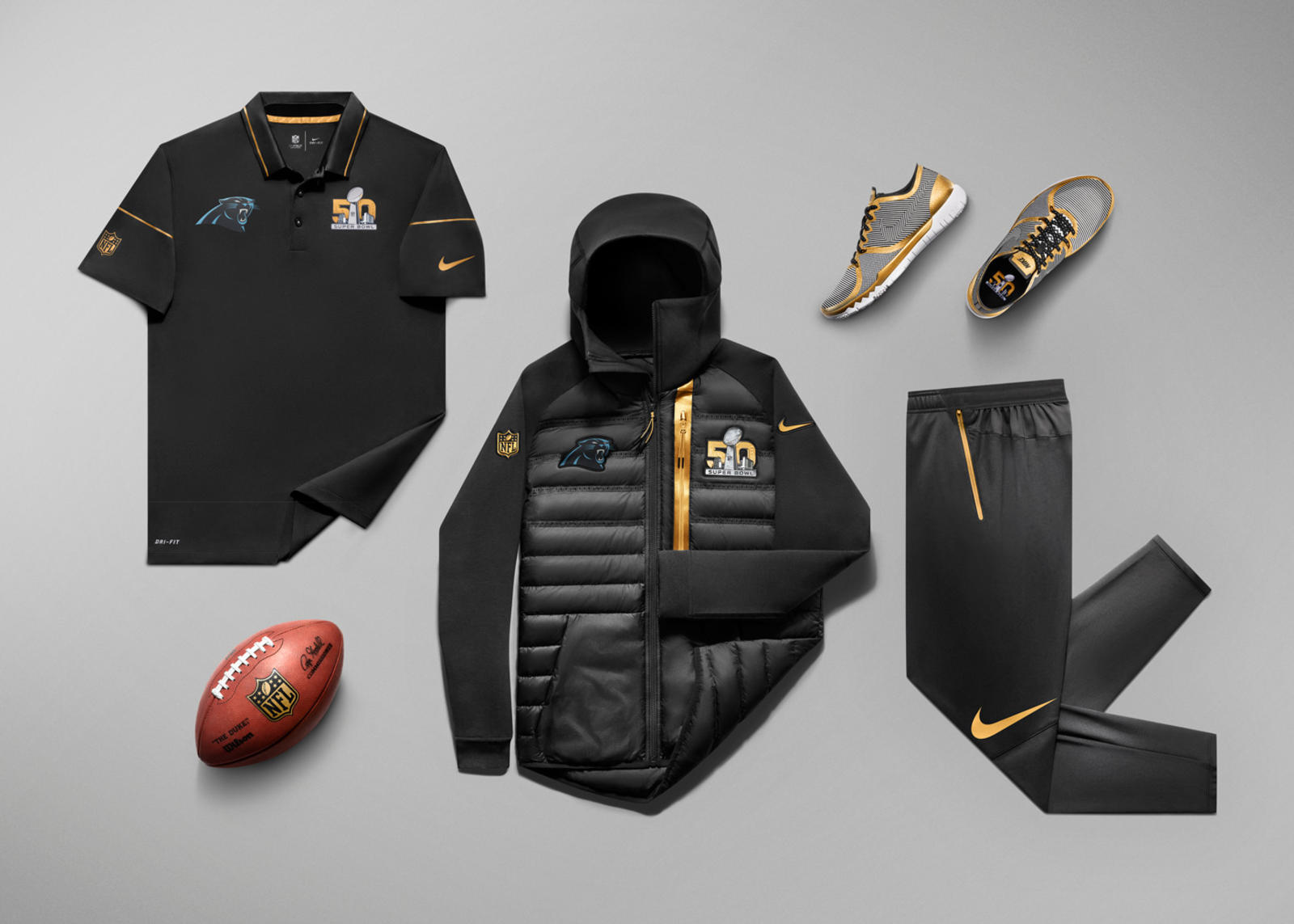 "reputable site c07f8 e3be4 A pocas semanas del tan anticipado evento deportivo, hemos podido echarle  un vistazo a la especial colección ""Super Bowl 50 Nike Gold Collection"" que  ha ..."