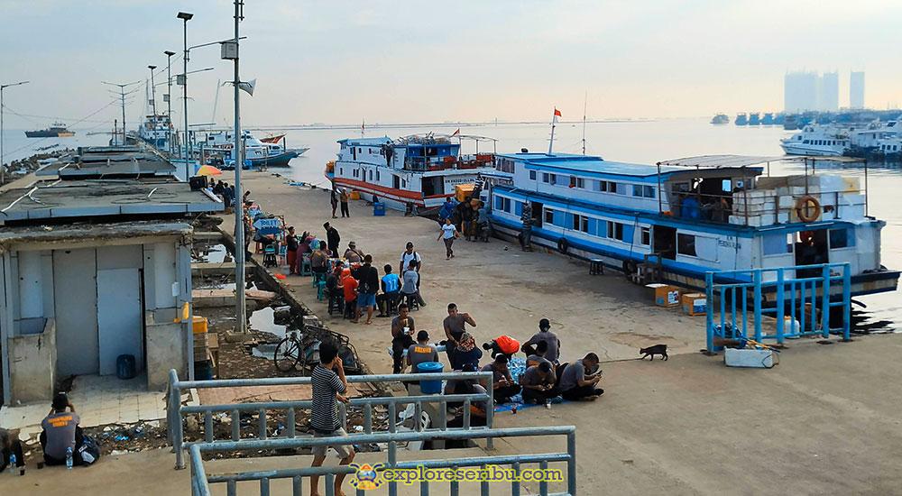 kapal ferry dari dermaga kaliadem muara angke jakarta