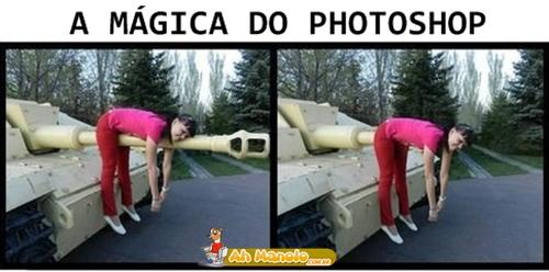 A mágica do Photoshop