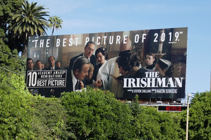 Irishman best picture 2019 Oscar nominee billboard