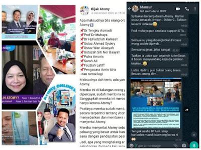 SCAMMER, ATOMY, GERAKAN MISSIONARY KRISTIAN, Tengku Asmadi, DTA, Tengku Osman meroyan, mohd sulutan scammer, atomy scammer, Amin Idris scammer, penipu, pengecut, penakut