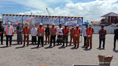 Kapolres Metro Tangerang Kota Lakukan Peletakan Batu Pertama Pembangunan Gedung Polsek Sepatan