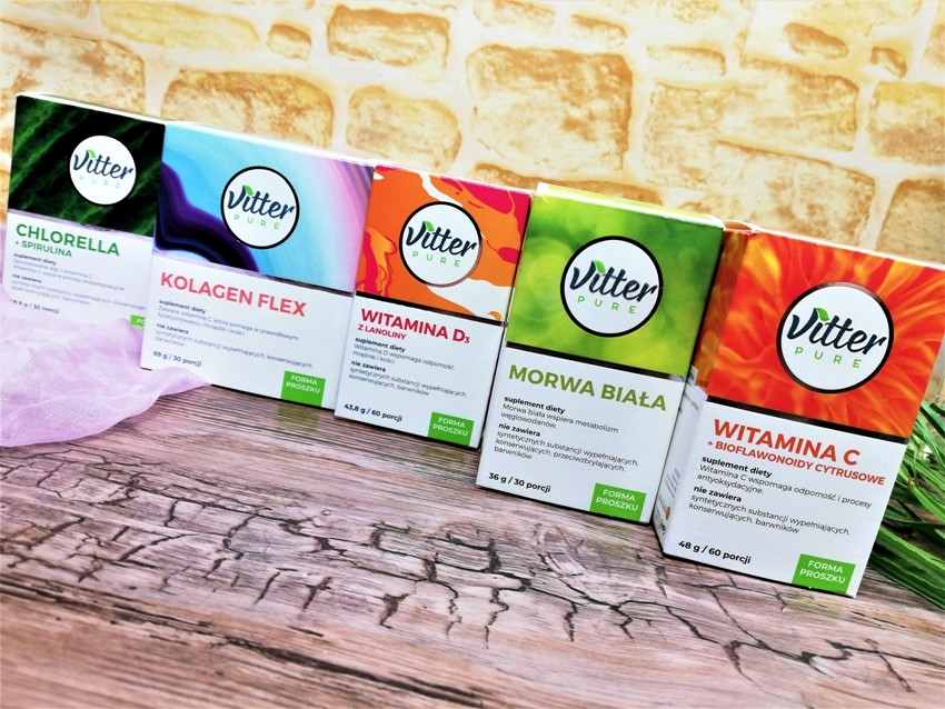 Suplementy Vitter PURE - wysoka jakość i prosty skład