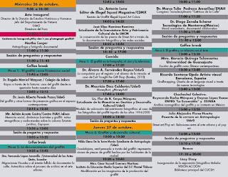 ponentes del primer foro de cultura visual en Guadalajara