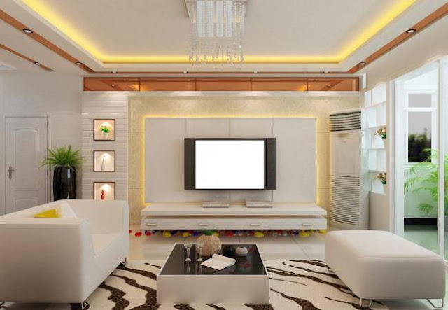 Asian Chinese Style Living Room Designs Ideas with TV unit
