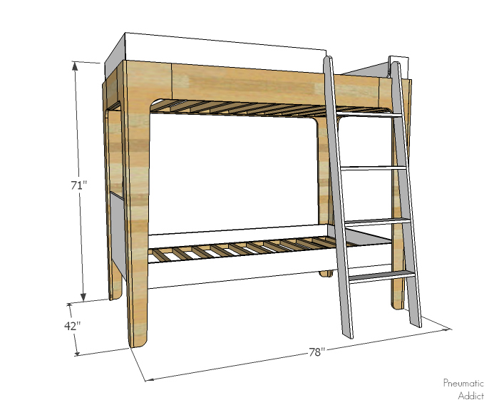 pneumatic addict how to build modern bunk beds