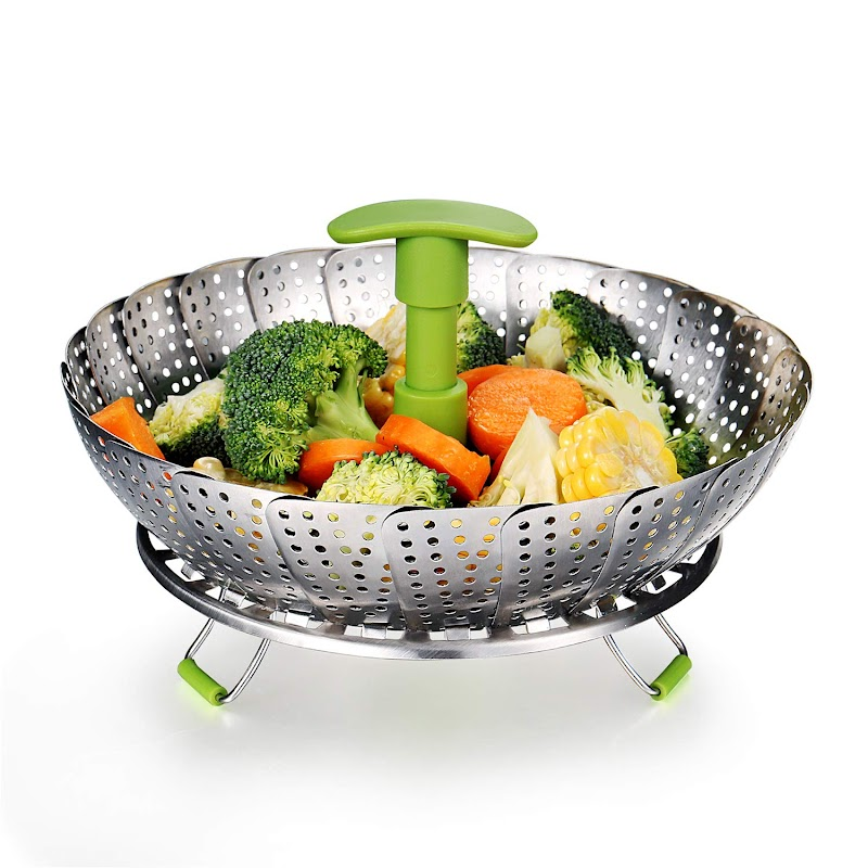 """AMAZON - Stainless Steel Food Steamer Expandable to Fit Various Size Pot (7"""" to 11"""")"""