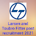 Larsen and Toubro 09 Fitter post recruitment 2021