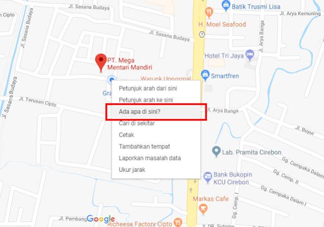 Cara Mencari Latitude dan Longitude Google Maps di Laptop