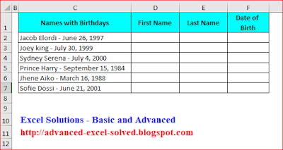 Use Flash Fill to Split Excel Cell