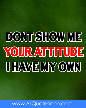 Best Quotes Attitude In English